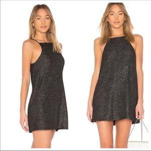 NBD REVOLVE Lisa Shift Dress Black Metallic S